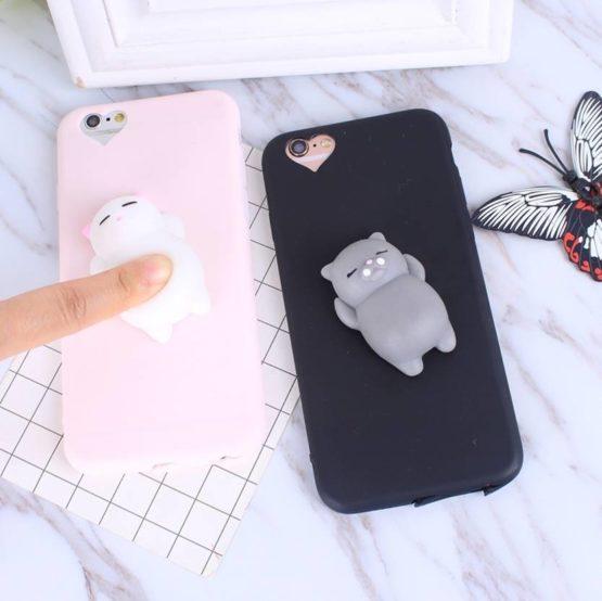 Kawaii Mochi Squishy Phone case for iPhone