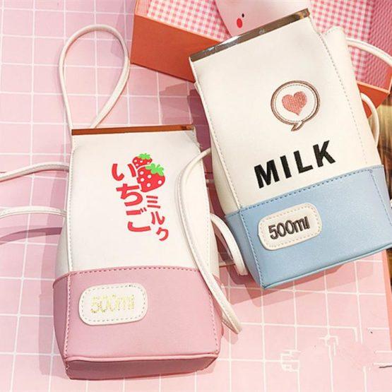 Kawaii Milk Shoulder Bag – Limited Edition