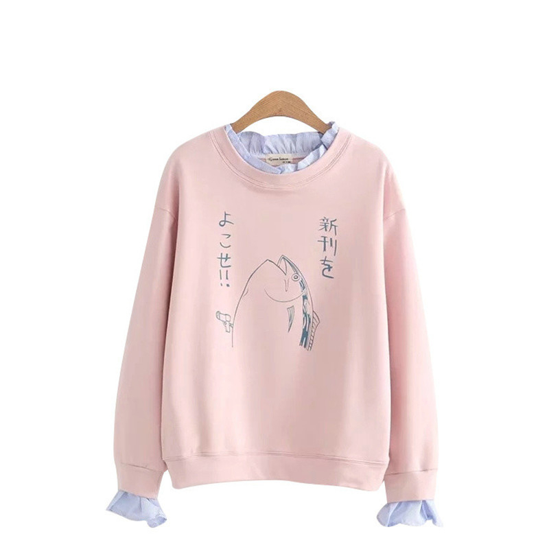 Kawaii Fish Double Layer Sweatshirt – Limited Edition