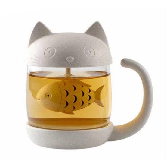 Kawaii Cat Fish Tea Mug – Special Edition