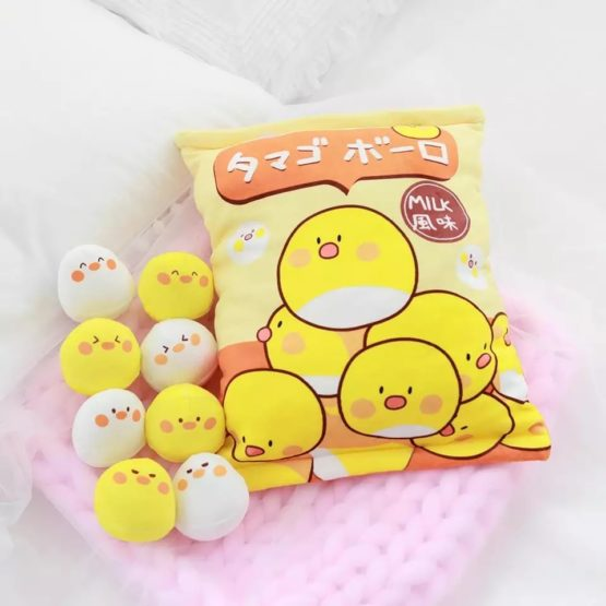A Bag of Kawaii Yellow Chick Dolls