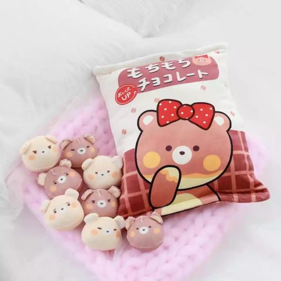 A Bag of Kawaii Chocolate Pudding Bear Dolls