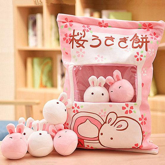 A Bag of Japanese Kawaii Bunny Dolls