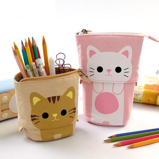 Kawaii Cute Kitty Cat Canvas Pencil Case