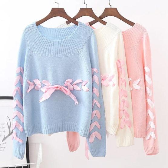 Kawaii Ribbon Harajuku Sweater – Limited Edition