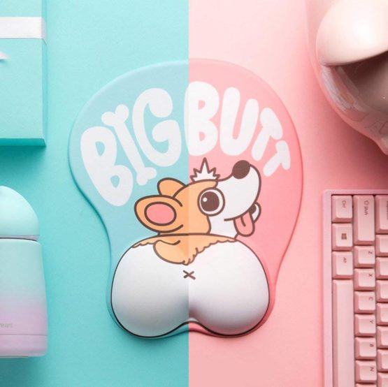 Kawaii Corgi 3D Mouse Pad