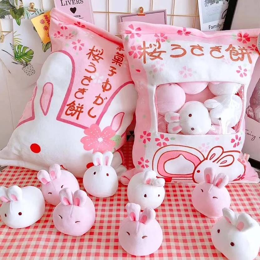 A Bag of Japanese Kawaii Bunny Dolls