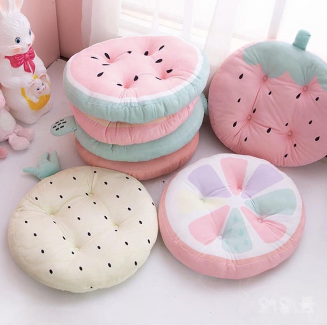Kawaii Fruit Cushion Pillow (45cm) – Limited Edition