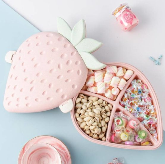Kawaii Strawberry Plate Bowl – Limited Edition