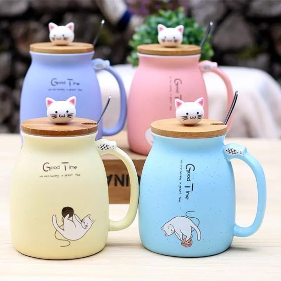 Kawaii Kitty Cat Ceramic Mug – Limited Edition