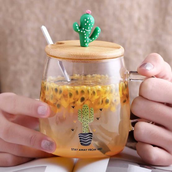 Kawaii Cactus Glass Cup – Limited Edition