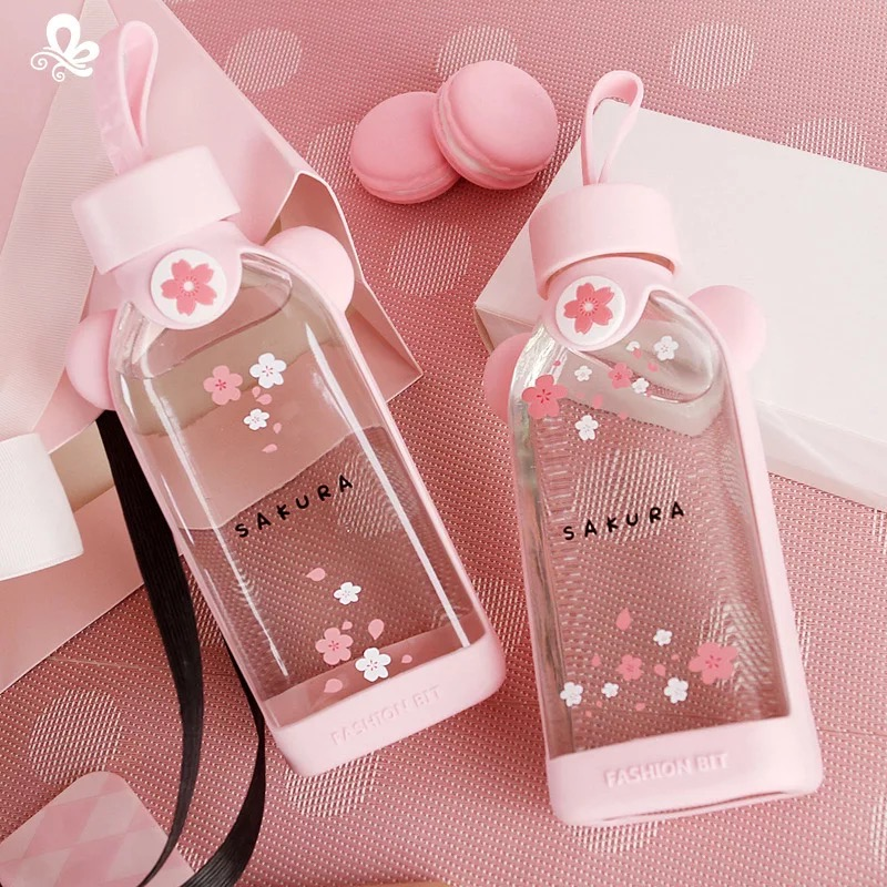 Kawaii Pink Cherry Blossom Bottle (350ml) – Limited Edition