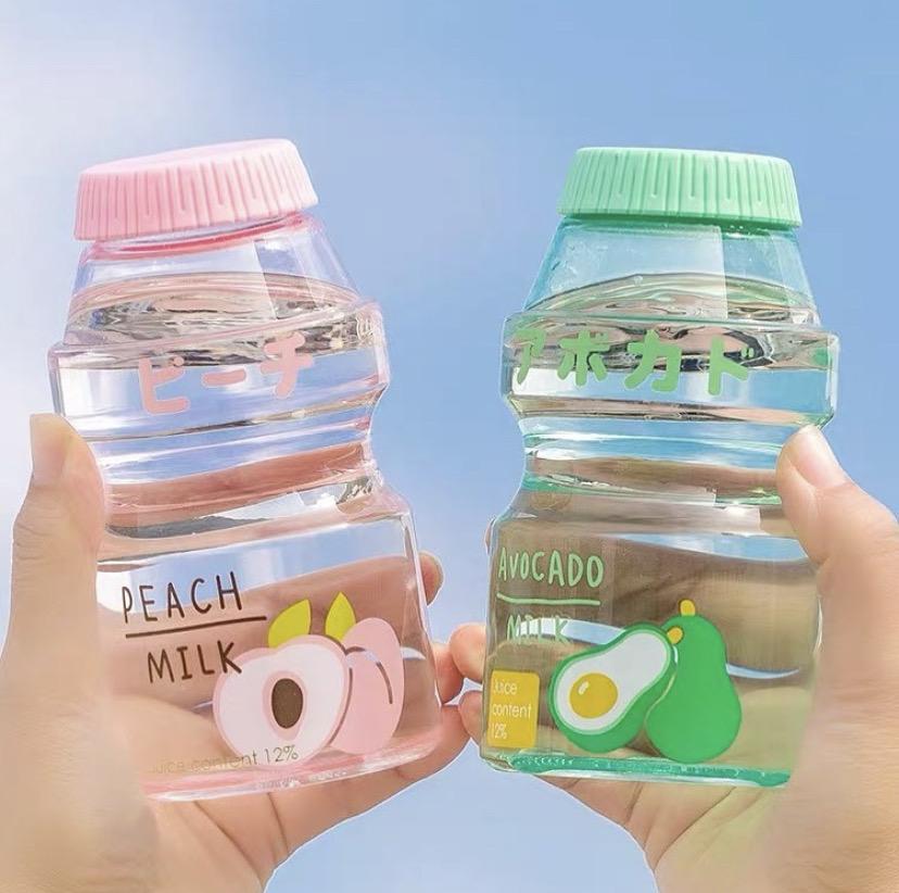 Kawaii Fruit Milk Bottle (480ml) – Limited Edition