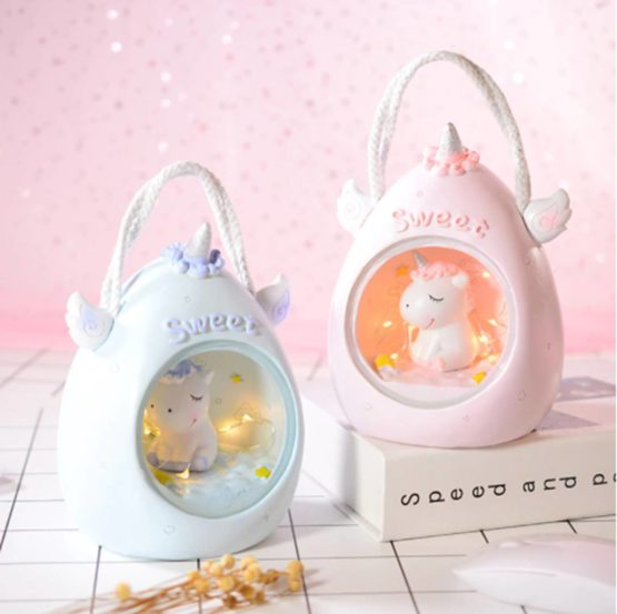 Kawaii Resin Unicorn LED Lamp XL – Limited Edition