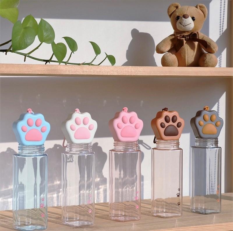 Kawaii Cat Paw Transparent Bottle (500ml)