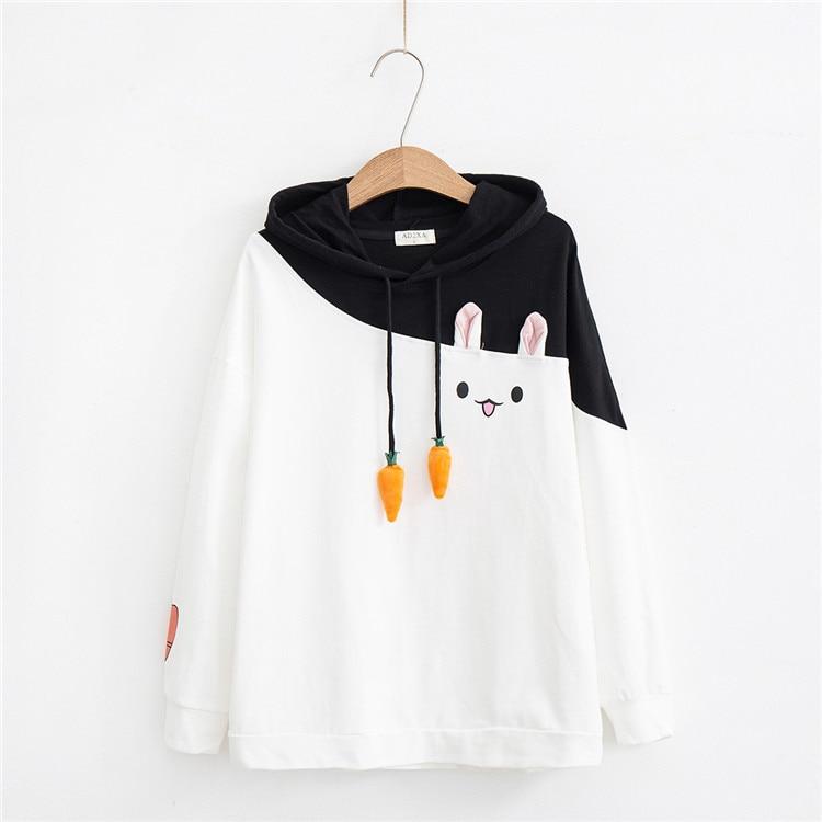 Kawaii Bunny Carrot Hoodie – Limited Edition