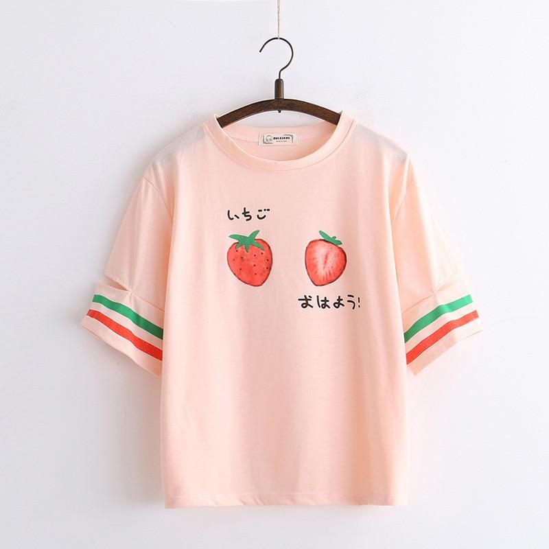 Kawaii Strawberry Pastel Harajuku Shirt