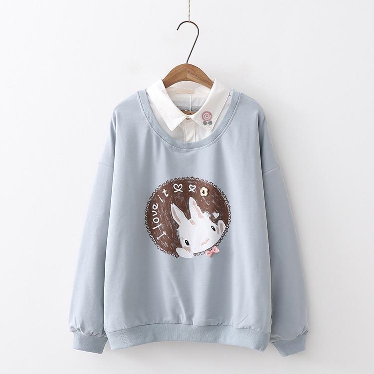 Kawaii Rabbit Pastel Harajuku Sweater