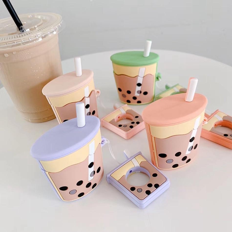 Kawaii Bubble Tea Earphone Protective Case