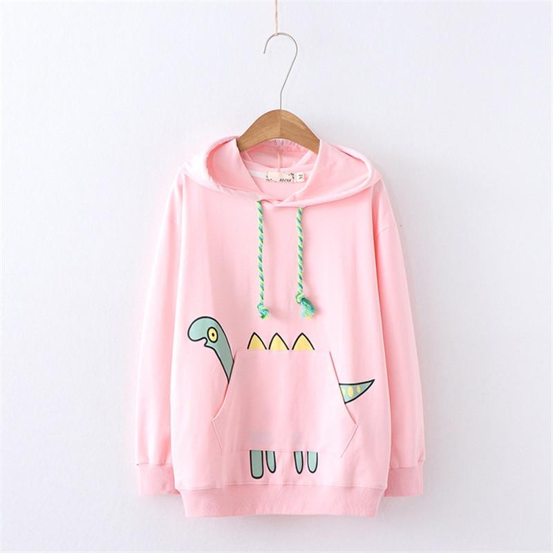 Kawaii Japanese Dinosaur Pastel Hoodie