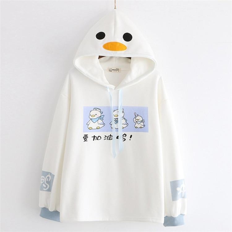 Kawaii Duck Japanese Style Hoodie – Limited Edition