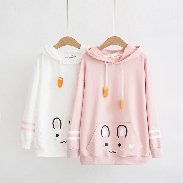 Kawaii Bunny Carrot Harajuku Hoodie – Limited Edition