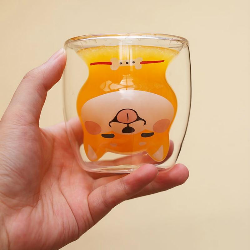 Kawaii Shiba Inu Glass Cup – Limited Edition
