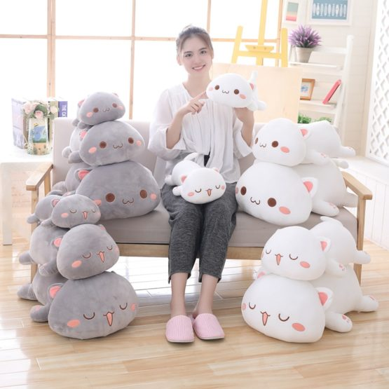 Kawaii Neko Cat Plush XL (50cm) – Limited Edition