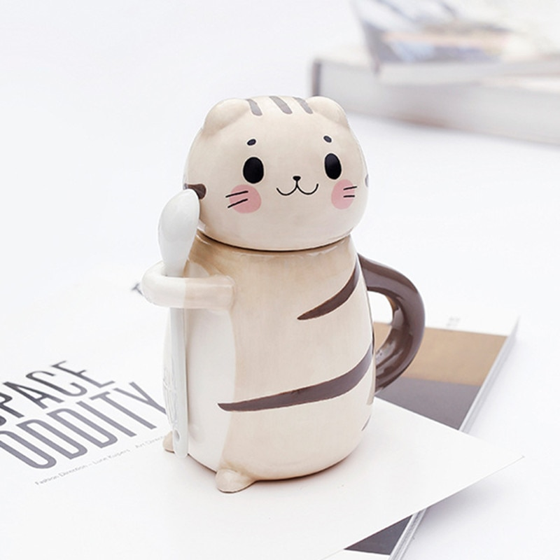 Kawaii Neko Cat Ceramic Coffee Mug