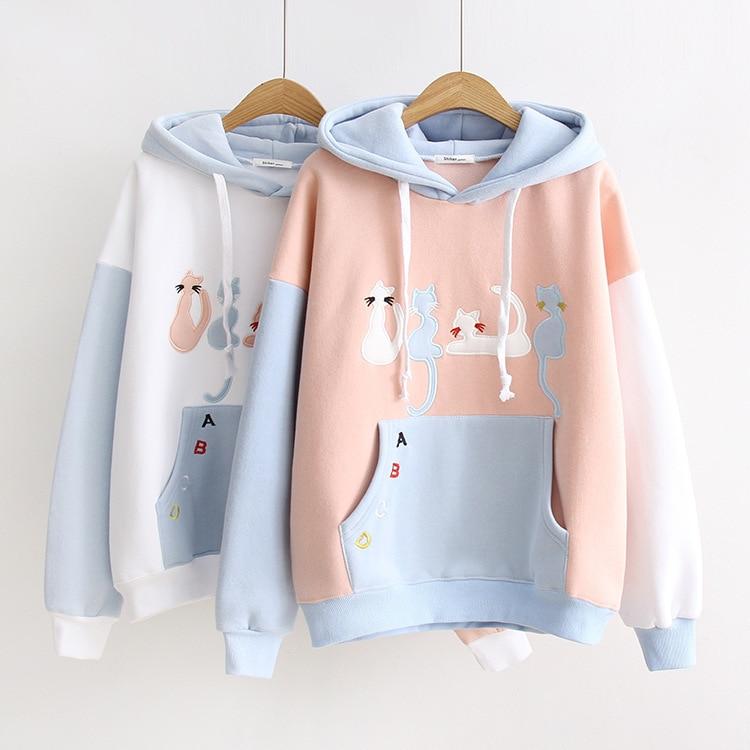 Kawaii Pastel Cats Harajuku Hoodie