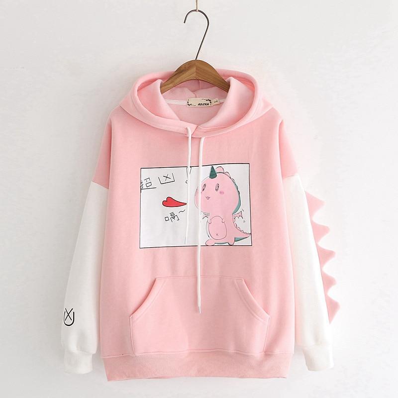 Kawaii Dinosaur Pastel Harajuku Hoodie – Limited Edition