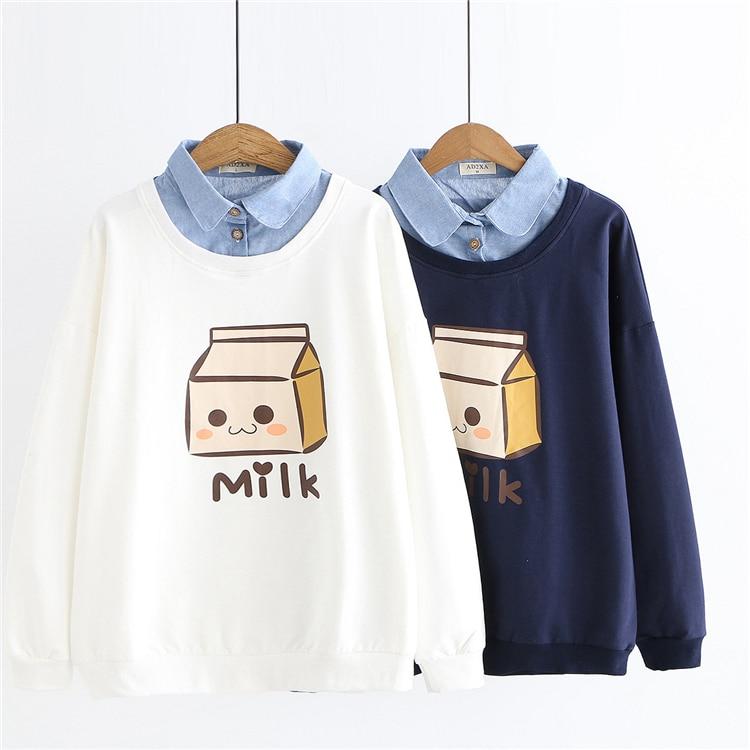 Kawaii Milk Japanese Style Hoodie
