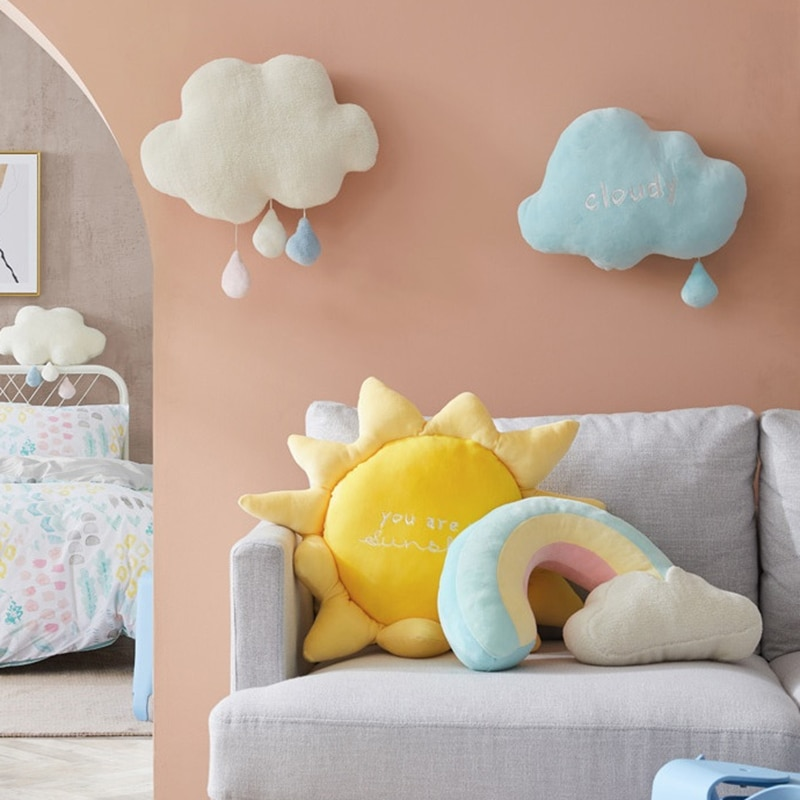 Kawaii Rainbow Sunshine Cloud Plush