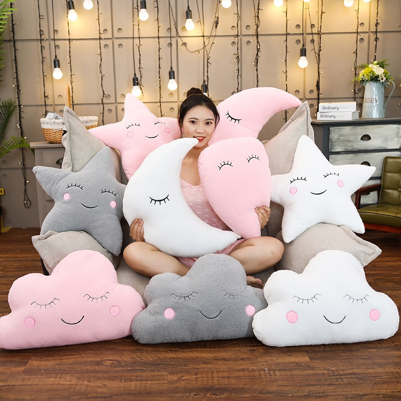 Kawaii Cloud Moon Cushion Pillow