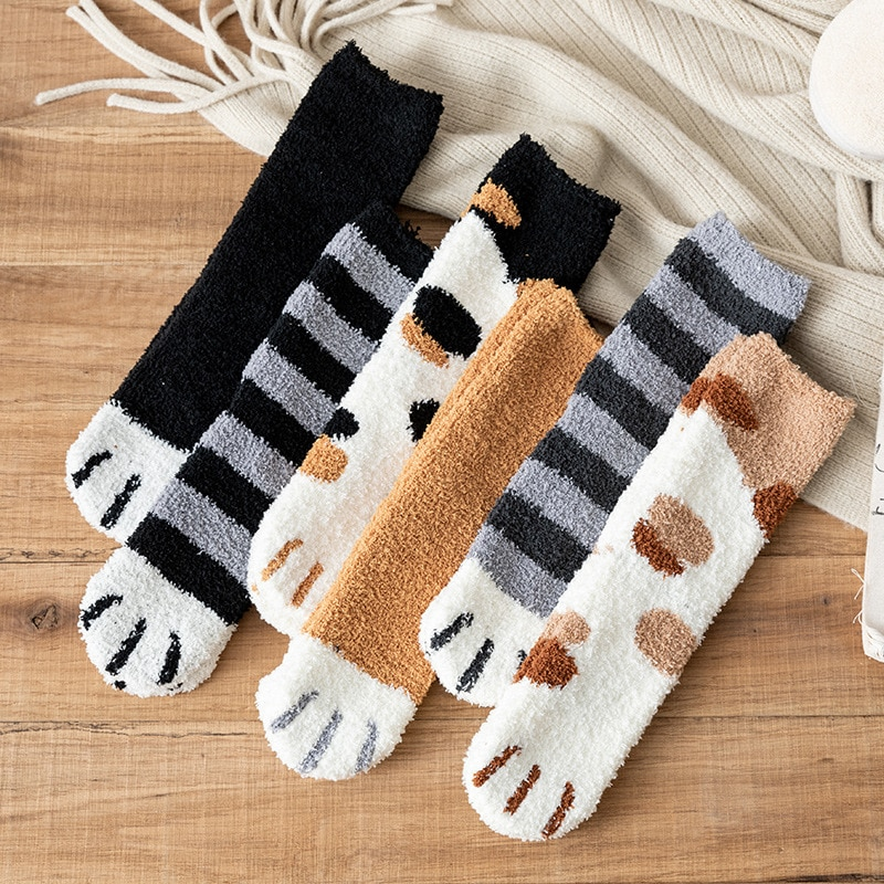 Kawaii Cat Paw Harajuku Socks