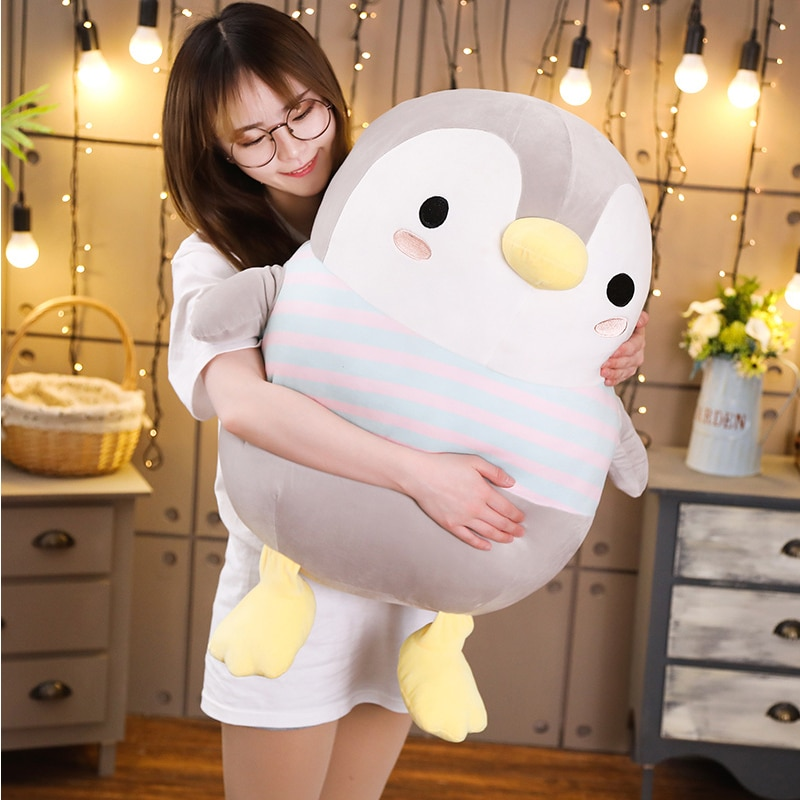 Kawaii Chubby Penguin Plush (50cm) – Jumbo Edition