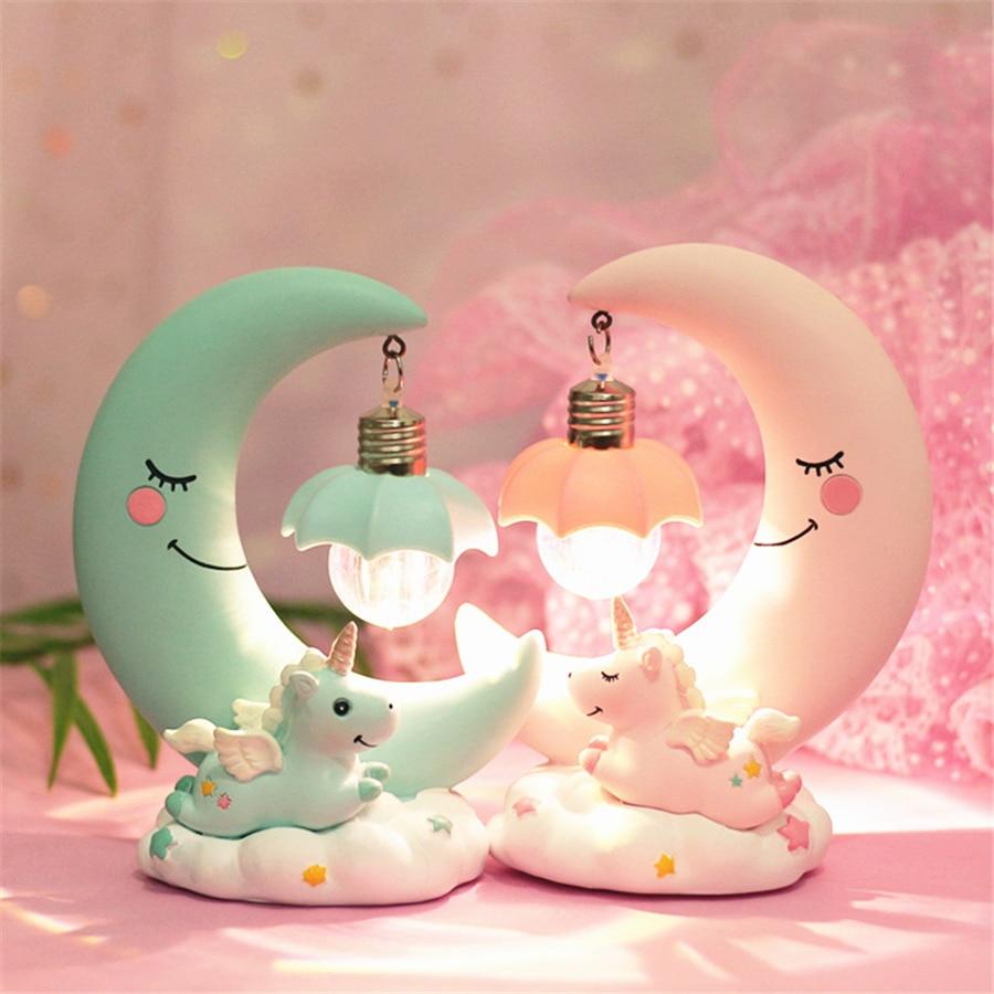 Kawaii Unicorn Moon Lamp – Limited Edition