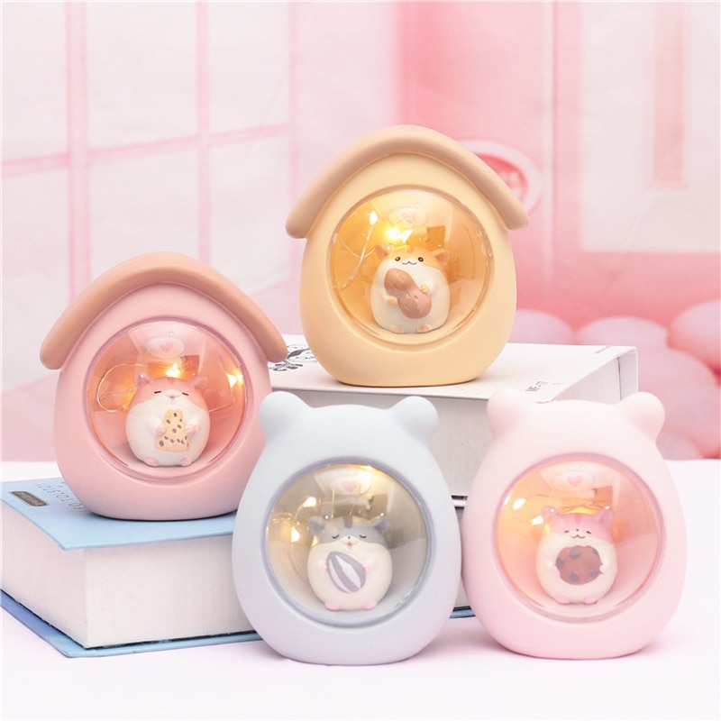 Kawaii Hamster Resin Lamp – Limited Edition