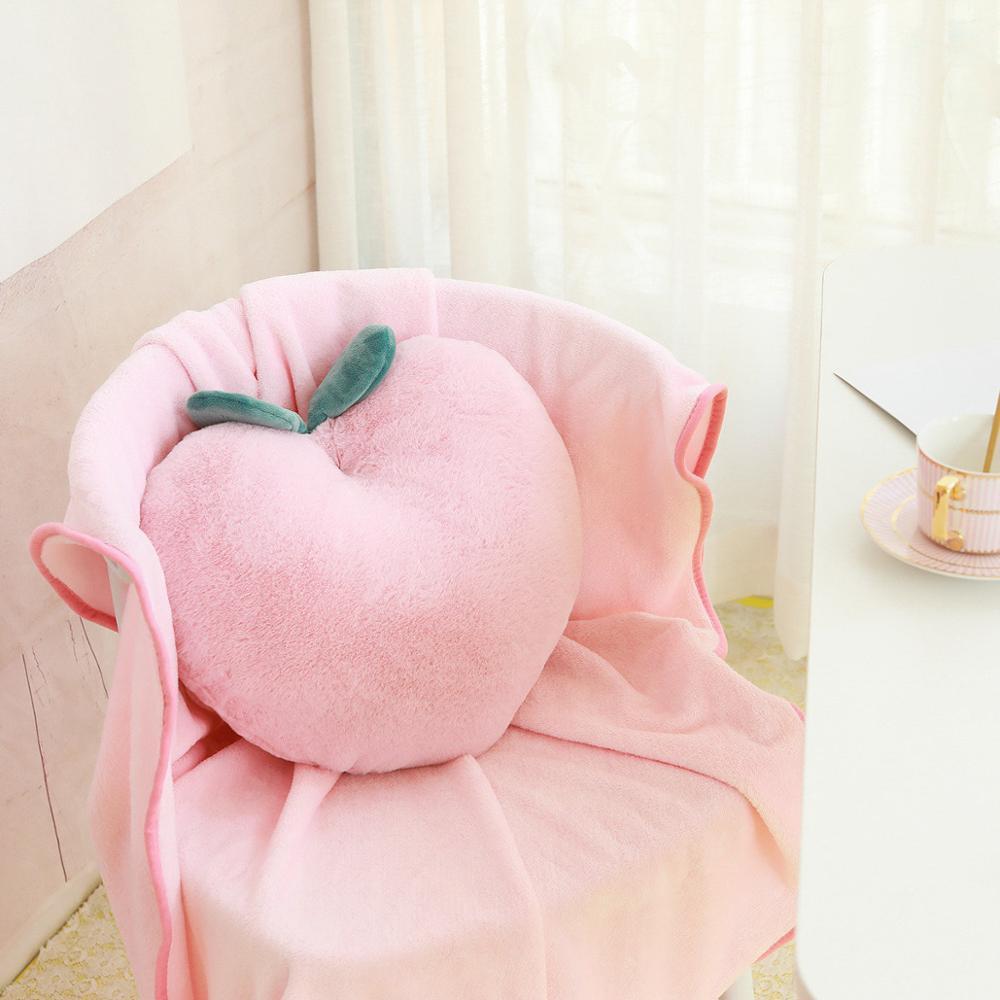 Kawaii Peach Cushion Plush Pillow