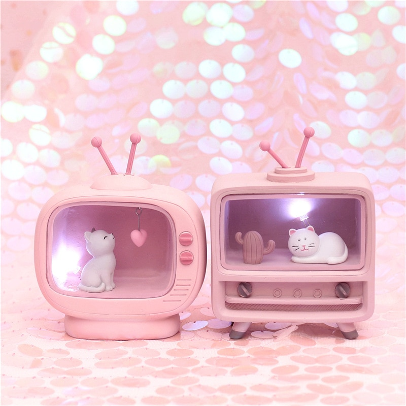 Kawaii Cat TV Lamp – Limited Edition