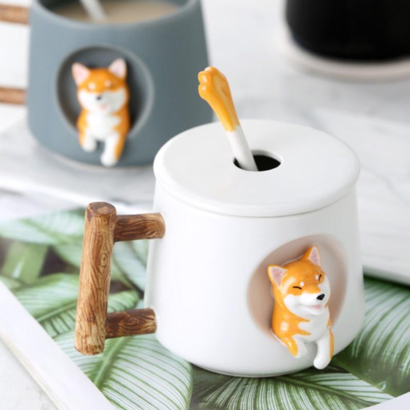 Kawaii Shiba Inu Ceramic Mug – Limited Edition