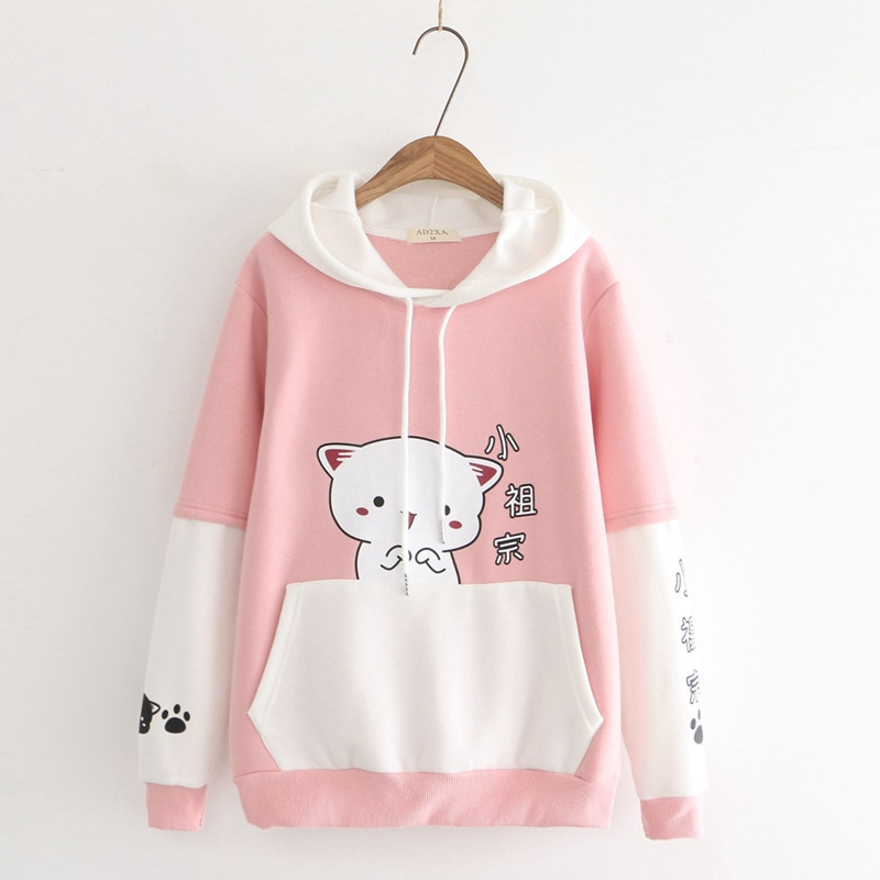 Kawaii Chubby Cat Ears Hoodie – Limited Edition