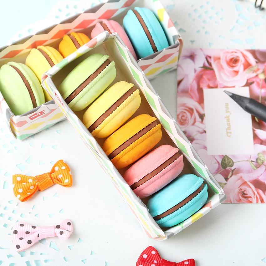 Kawaii Macaron Rubber Erasers