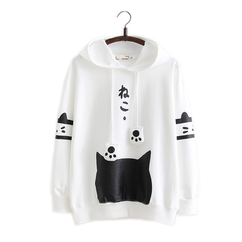 Kawaii Cat Harajuku Japanese Hoodie – Limited Edition