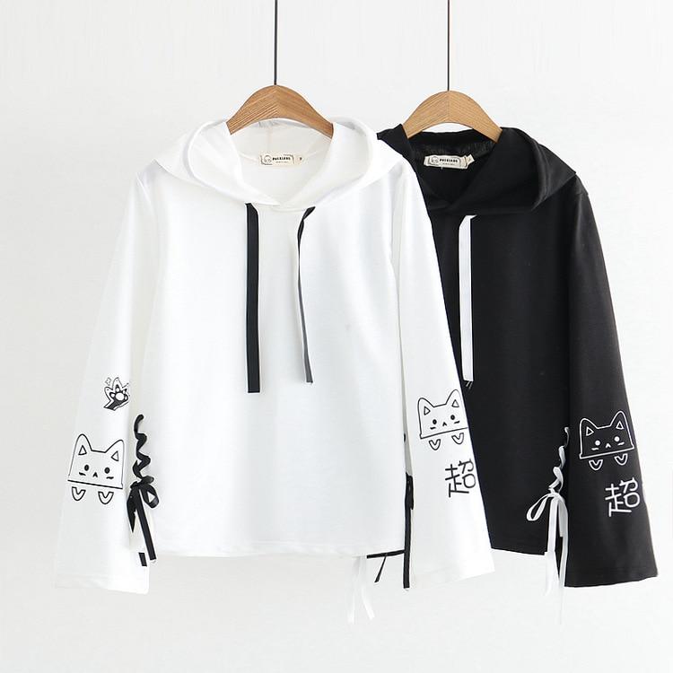 Kawaii Harajuku Cat Sweatshirt – Limited Edition