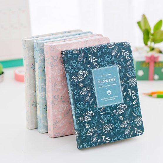 Kawaii Vintage Flower Notebook Diary