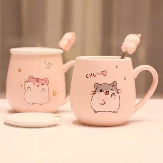 Kawaii Hamster Ceramic Cup (450ml) – Limited Edition