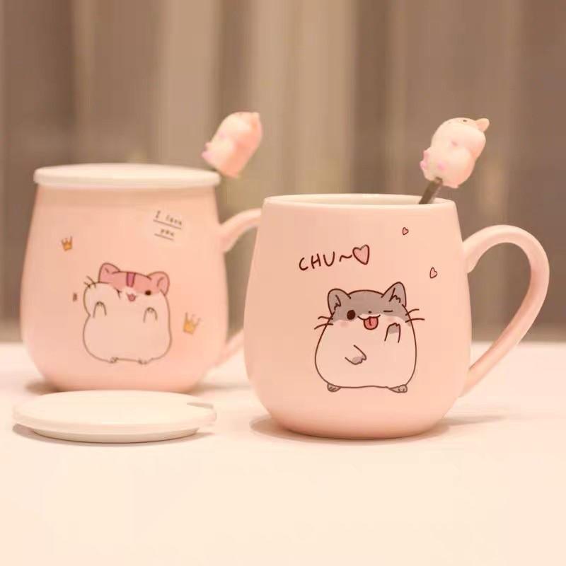 Kawaii Hamster Ceramic Cup (450ml) – Limited Edition