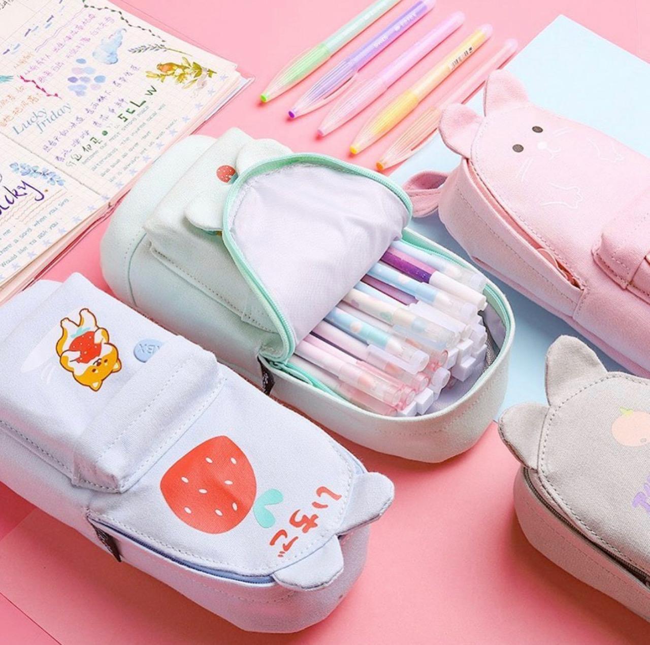 Kawaii Bunny Ears Pencil Case – Limited Edition
