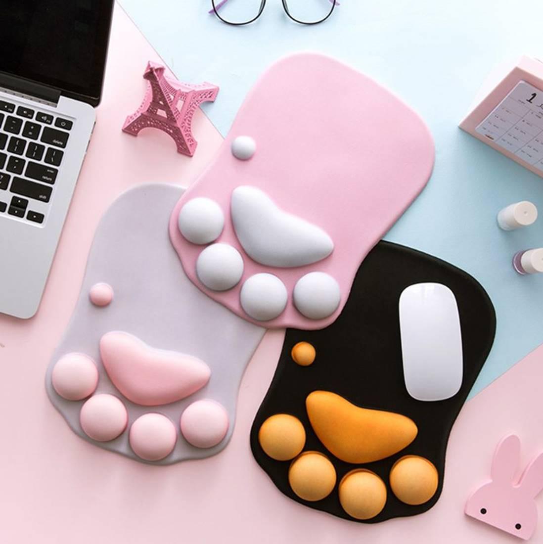 Kawaii Cat Paw 3D Mousepad – Limited Edition